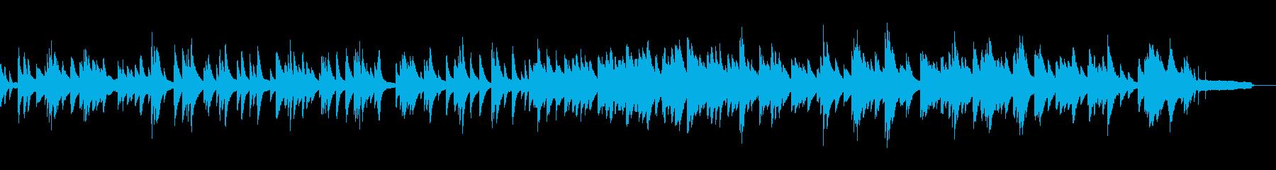 映像・ナレーション用ピアノ演奏(愛)の再生済みの波形
