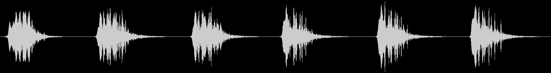 オジロワシの鳴き声の未再生の波形