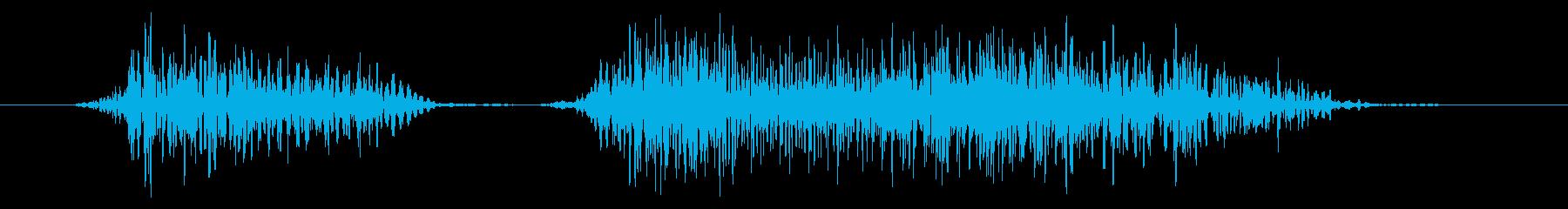 ゴリラ モンスター ダメージ 中の再生済みの波形