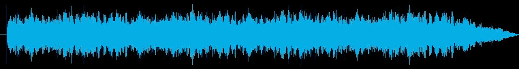 不気味で物静かな雰囲気のホラー系BGMの再生済みの波形