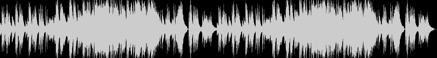 感動的できれいなピアノバラードの未再生の波形