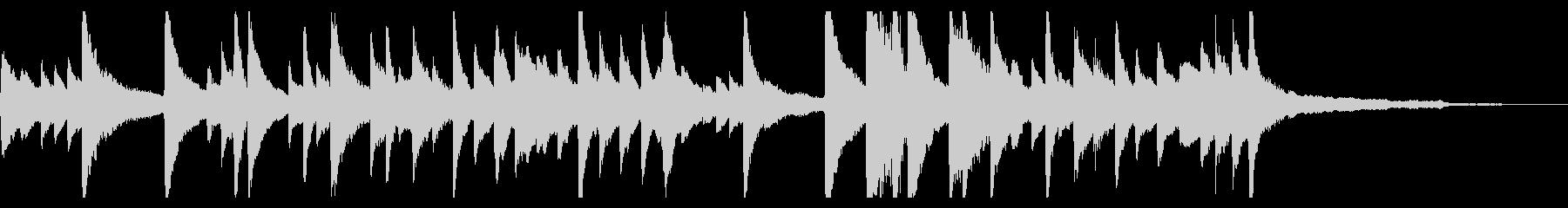 ピアノ やすらぎの曲の未再生の波形