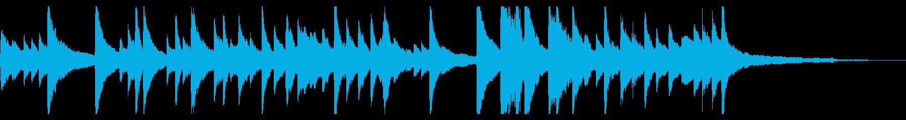 ピアノ やすらぎの曲の再生済みの波形