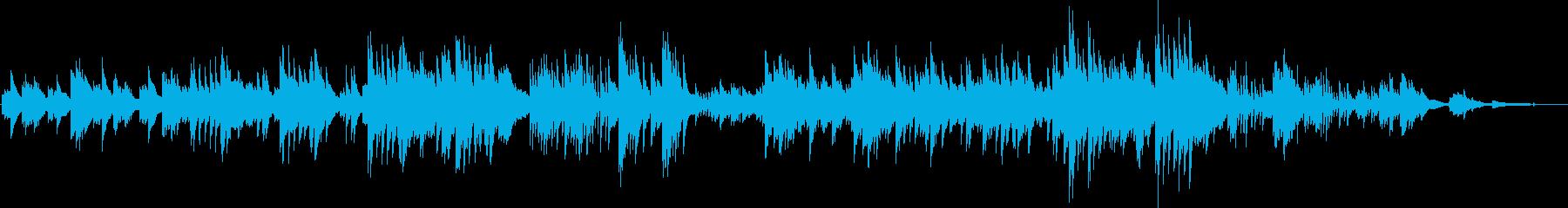 少し寂しい雰囲気のピアノソロバラードですの再生済みの波形
