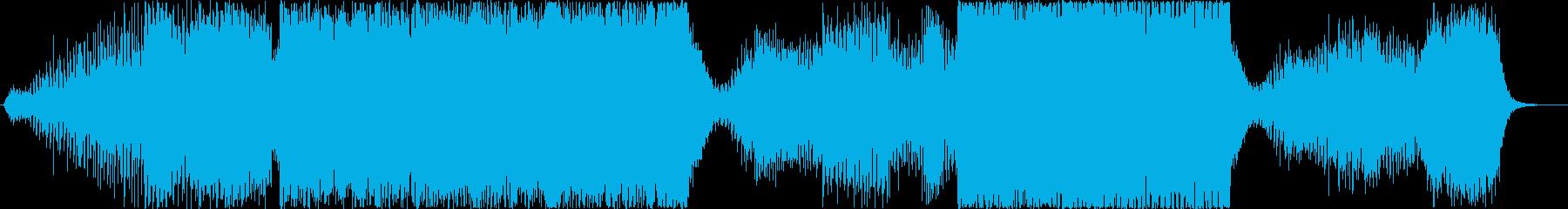 サイバーパンク・宇宙的なシーンでの再生済みの波形
