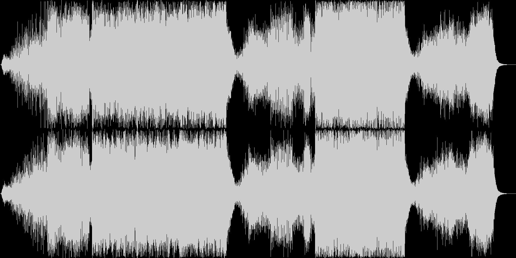 サイバーパンク・宇宙的なシーンでの未再生の波形