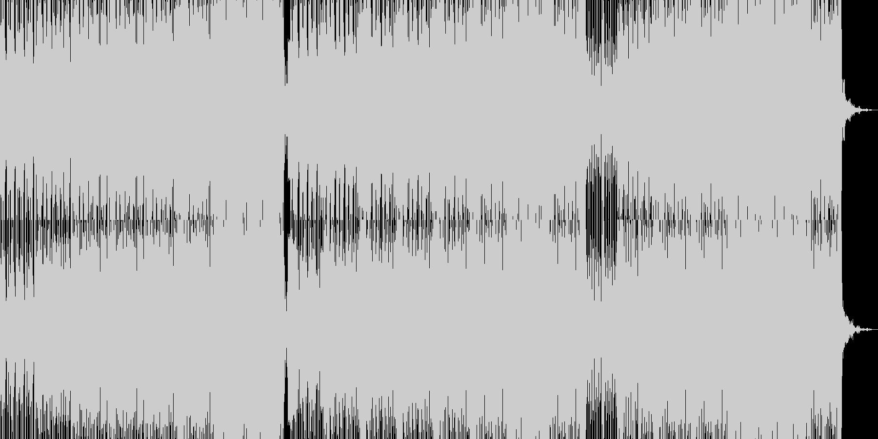 徐々に盛り上げていく四つ打ちテクノの未再生の波形