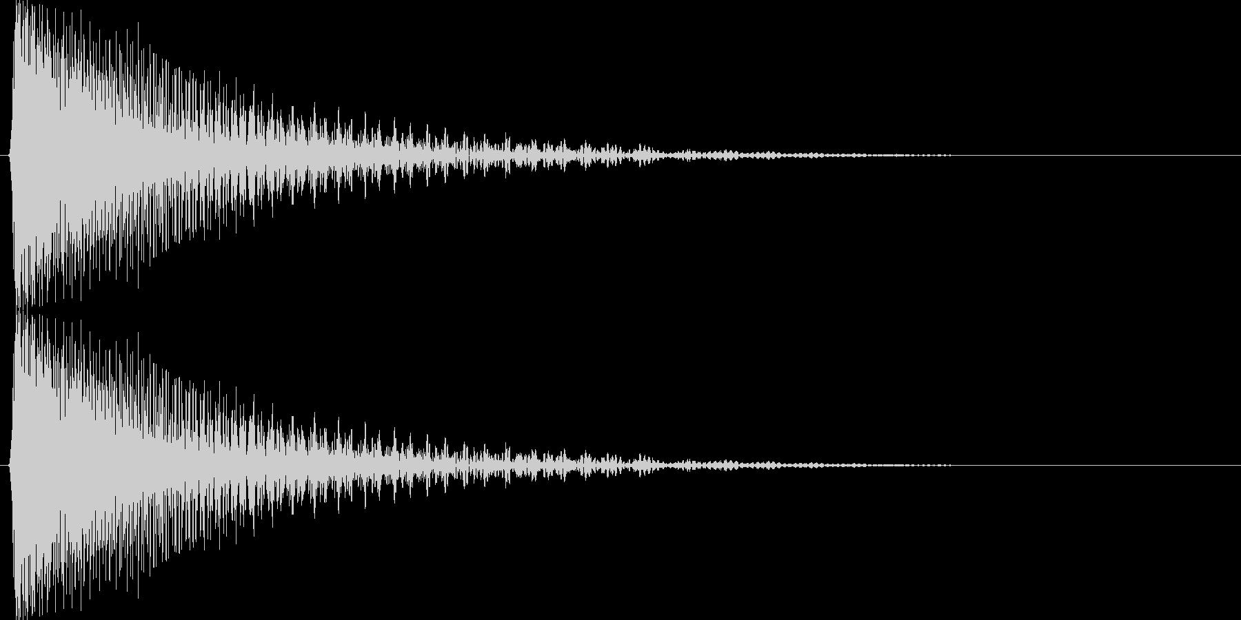 キューン↓(下降、温度計、下がる)の未再生の波形