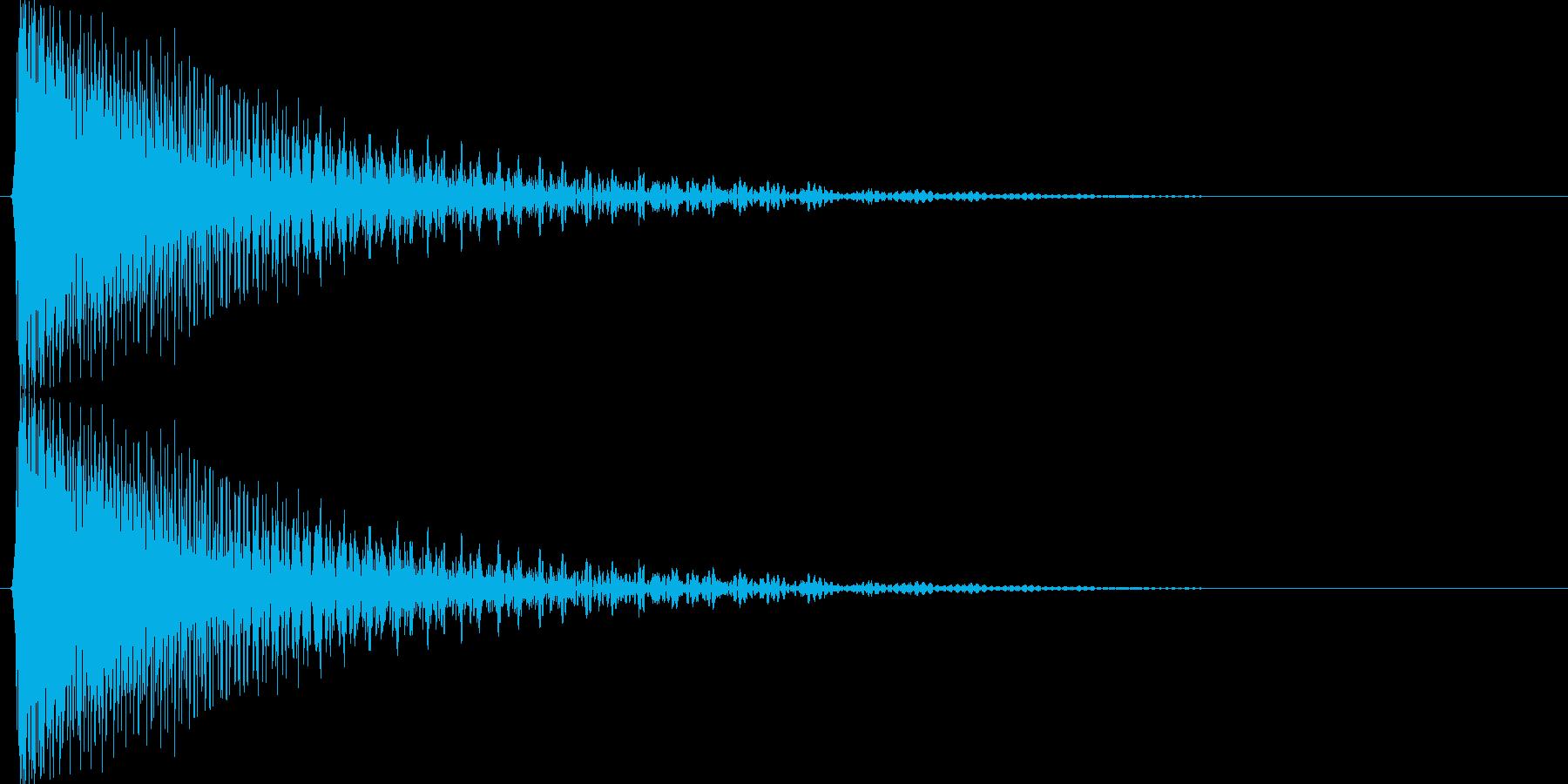 キューン↓(下降、温度計、下がる)の再生済みの波形