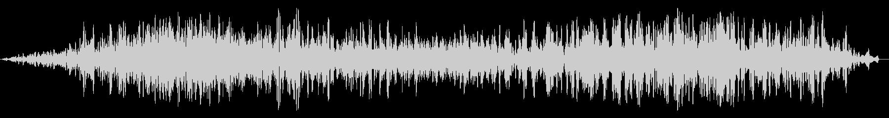 ブオーン(飛行機のエンジン音)の未再生の波形