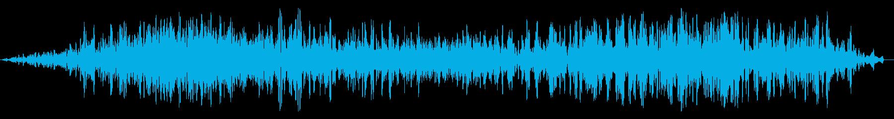 ブオーン(飛行機のエンジン音)の再生済みの波形