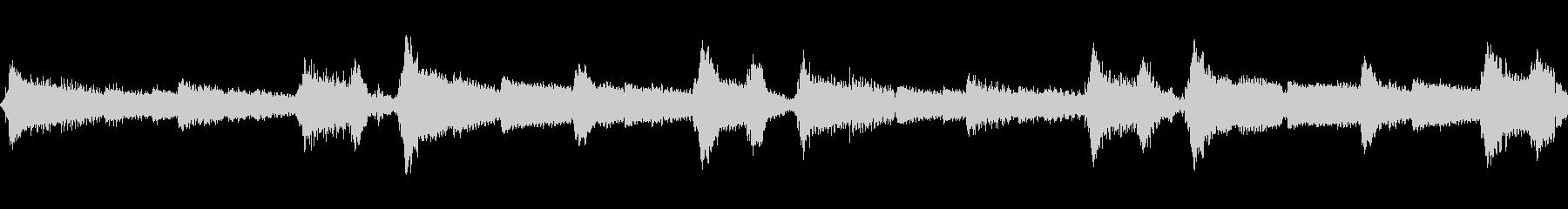 ミステリアスなギターアルペジオの未再生の波形