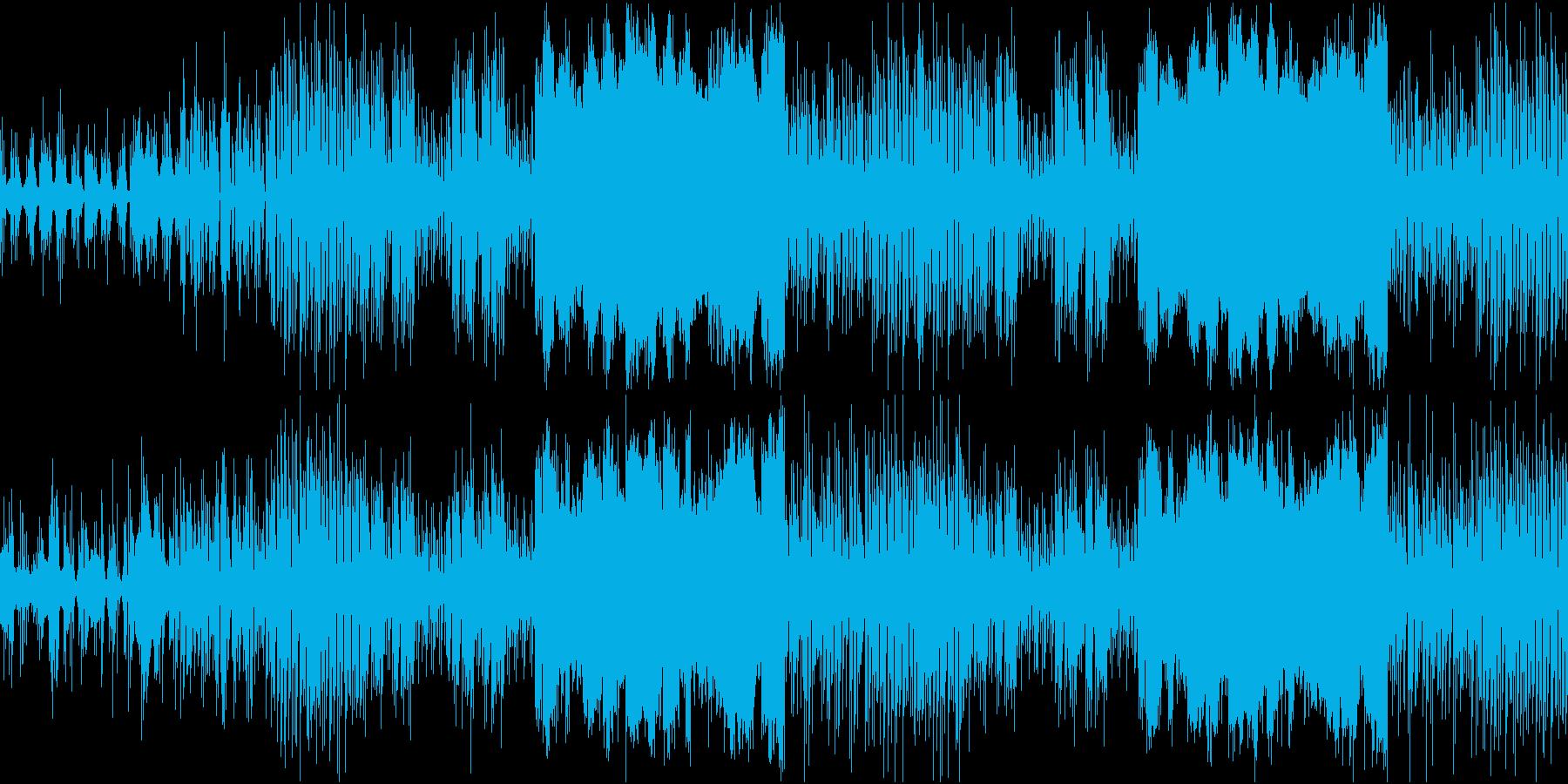 ループ可能なミドルテンションテクノポップの再生済みの波形