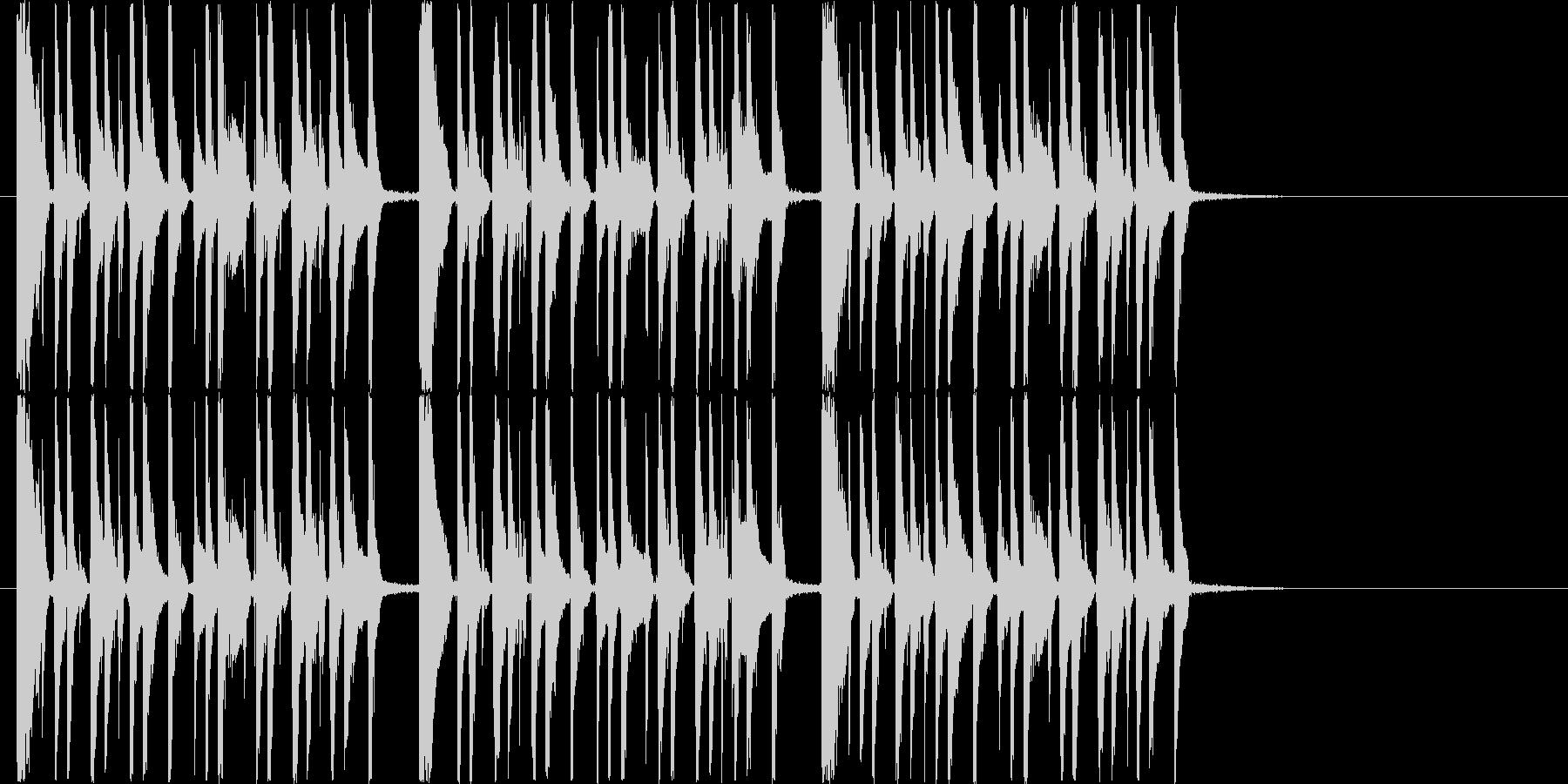 リズミカルでアップテンポなシンセジングルの未再生の波形