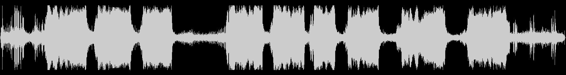 大型ガスチェーンソー:開始、小さな...の未再生の波形