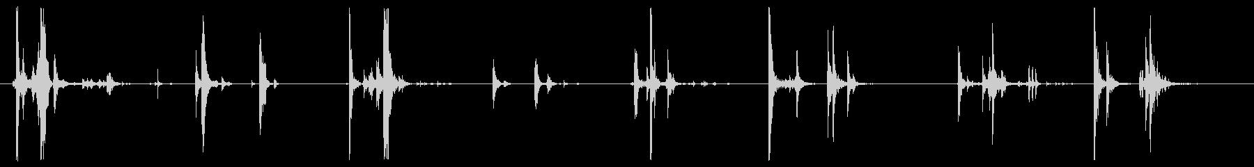 ffinの蓋が4Xを開きます。の未再生の波形