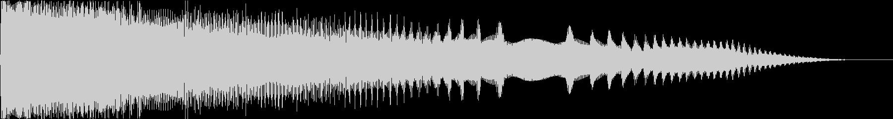 ブーン:テンションが下がる音の未再生の波形