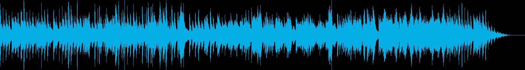 回想シーンをイメージしたエモーショナル曲の再生済みの波形
