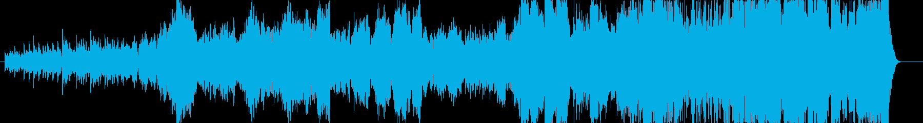 大河ドラマのようなオーケストラ調の再生済みの波形