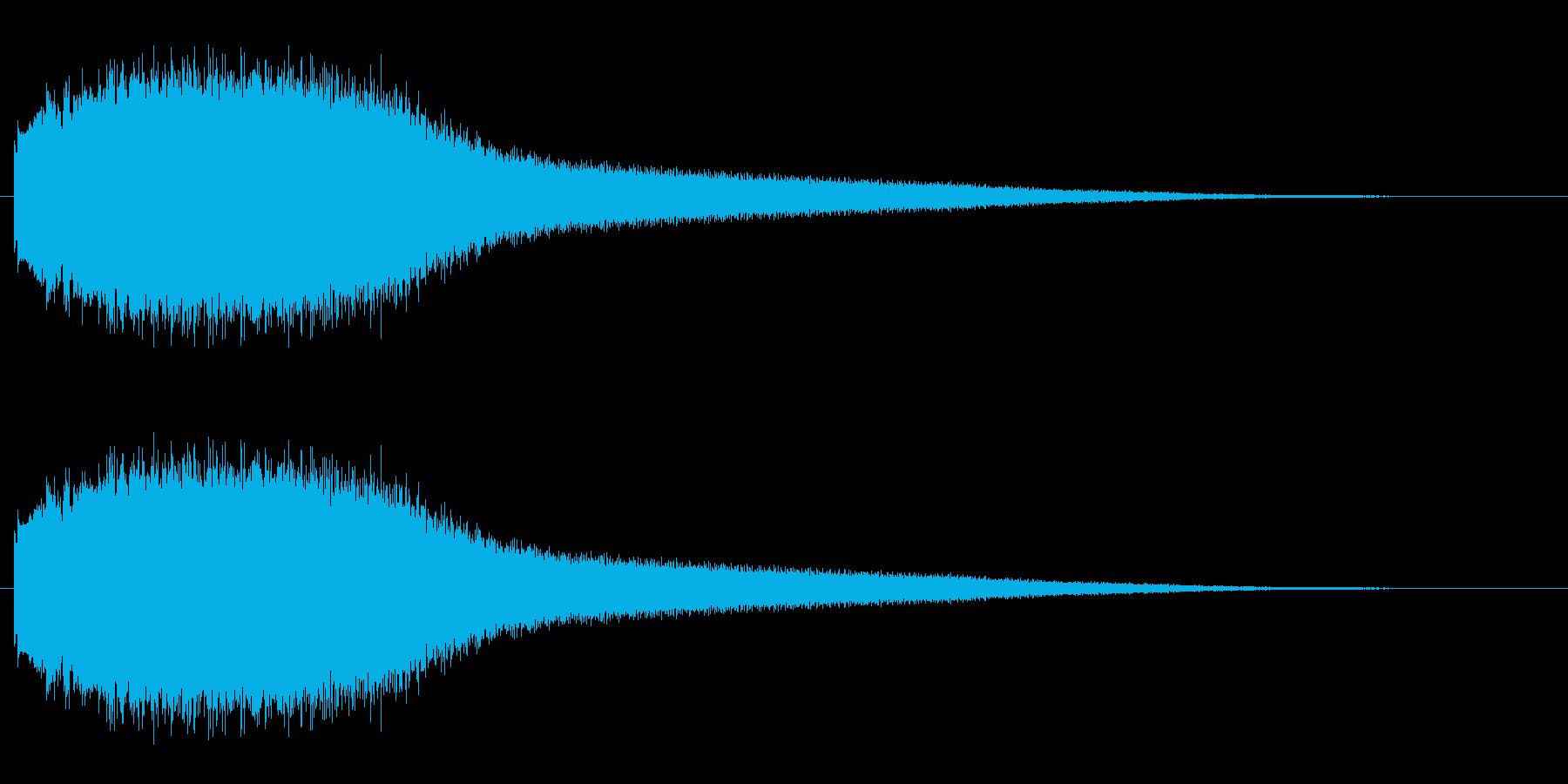機械 アトナルリズムライザーショート01の再生済みの波形
