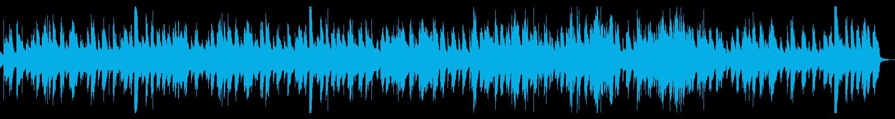 おしゃれなカフェで流れるBGMの再生済みの波形