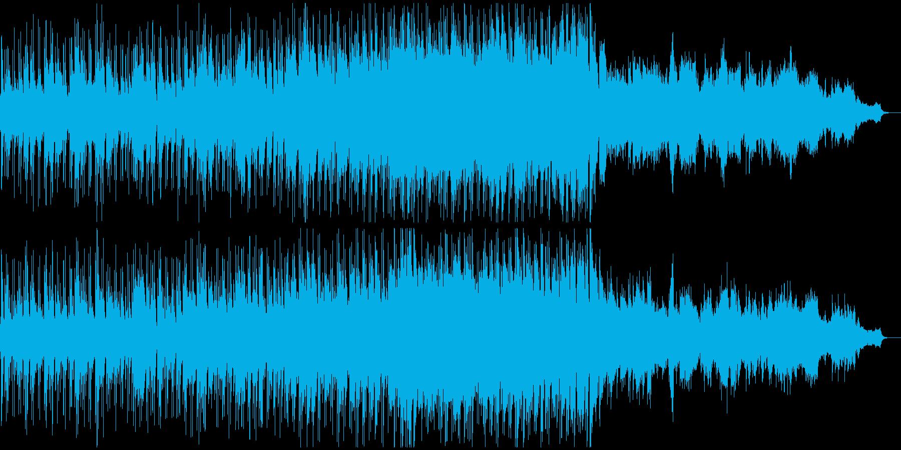 オシャレでゴージャスなボサノバ風BGMの再生済みの波形