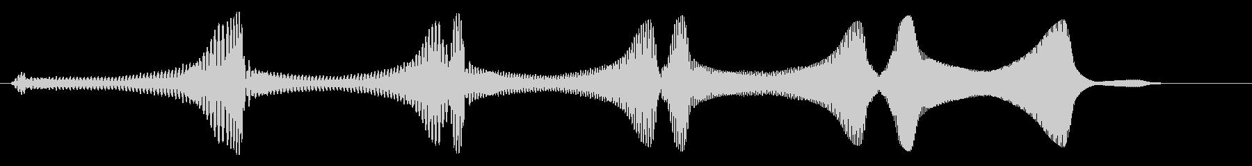 未確認飛行物体系の飛行音の未再生の波形