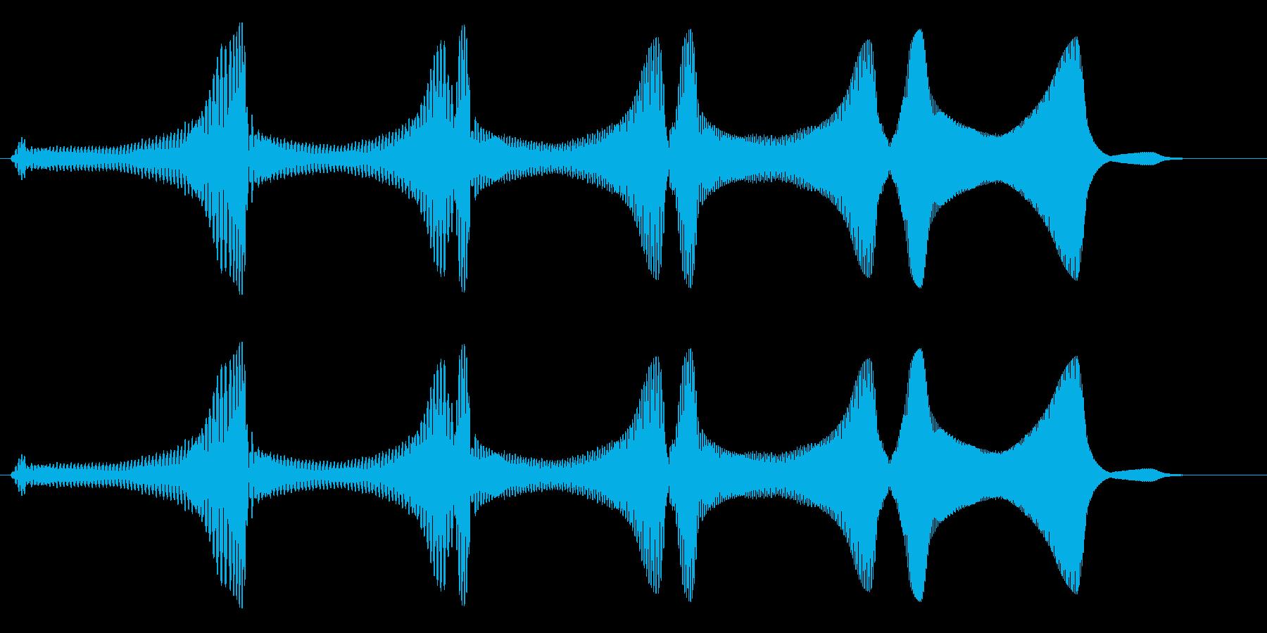 未確認飛行物体系の飛行音の再生済みの波形