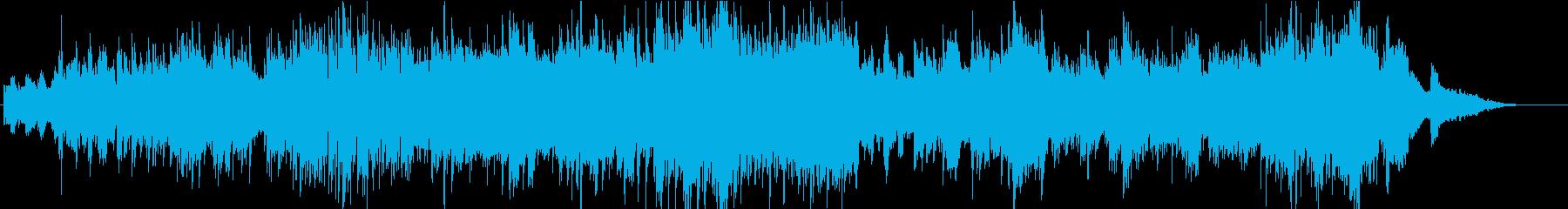ピアノをメインとした忙しい日常の曲の再生済みの波形