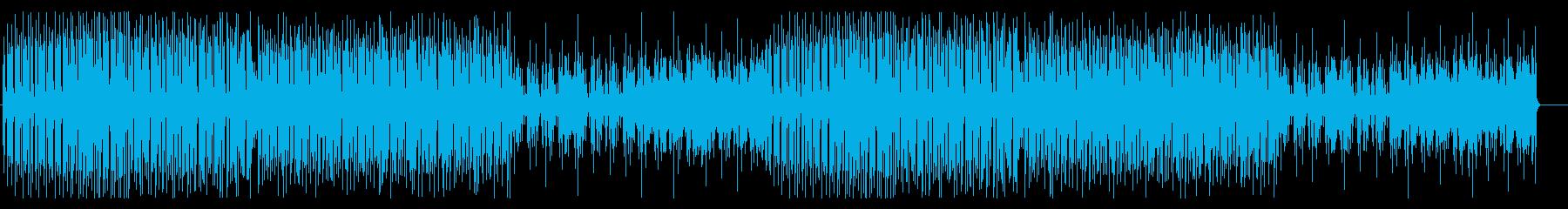 トロピカルフルーツのような元気で明るい曲の再生済みの波形