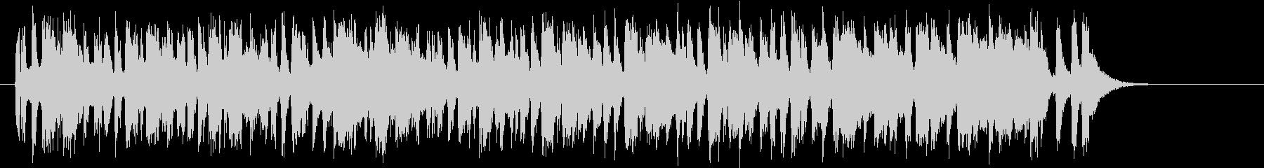 陽気なポップスバンドのジングルの未再生の波形