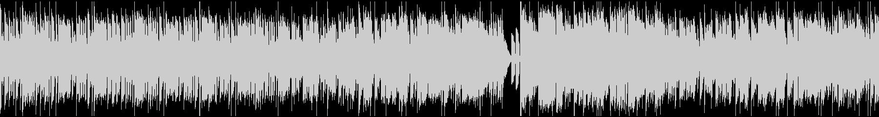 シンセ中心のコミカル曲_ループの未再生の波形