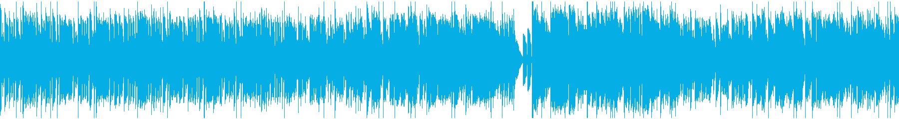 シンセ中心のコミカル曲_ループの再生済みの波形