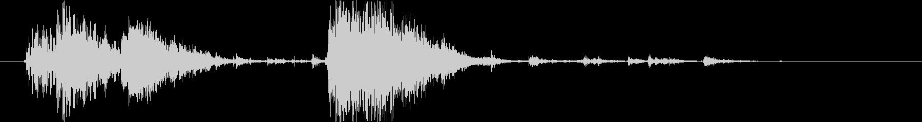 【破壊音】ドン ガシャンの未再生の波形