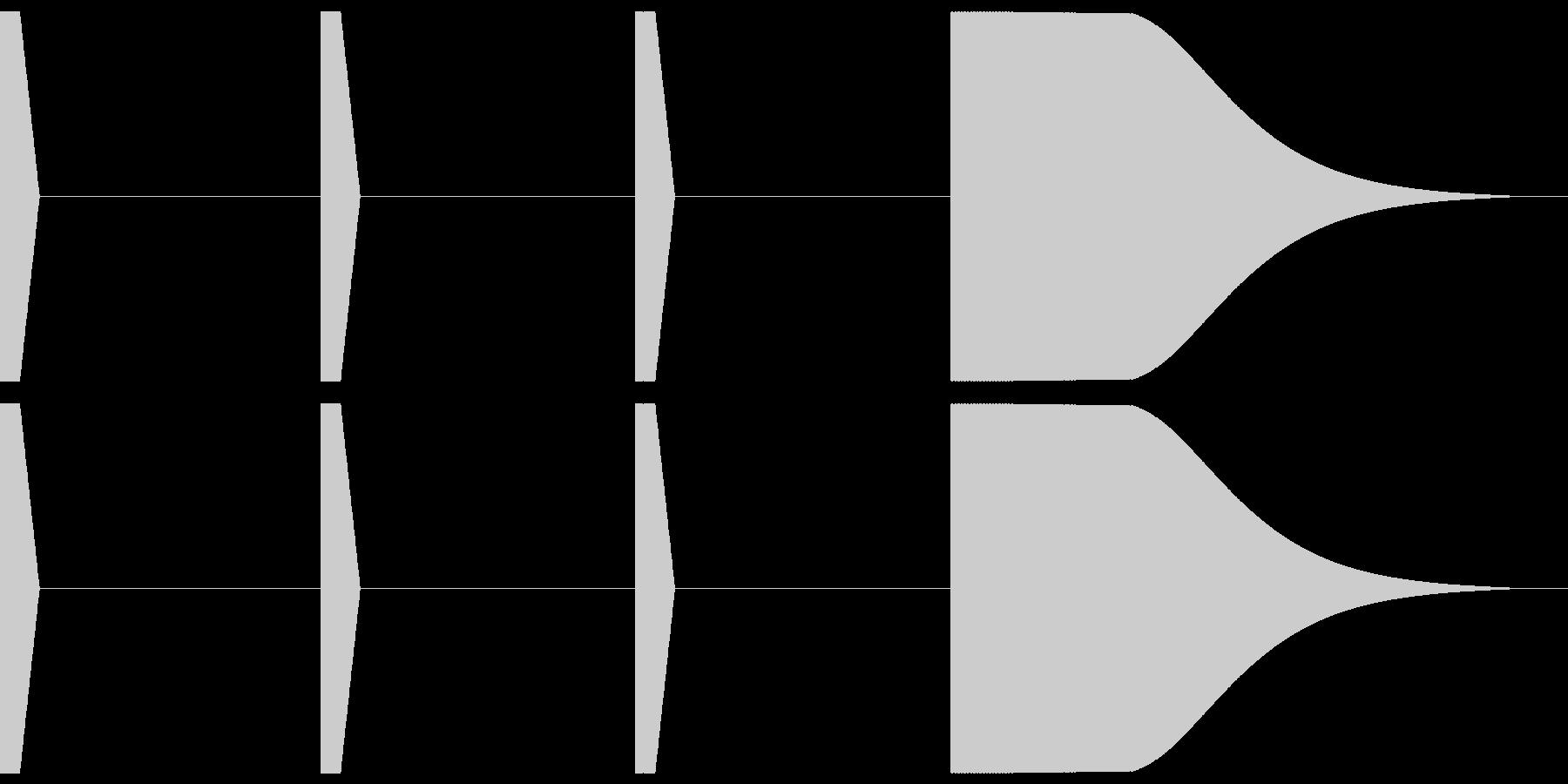 時報 (プッ、プッ、プッ、ポーン)の未再生の波形