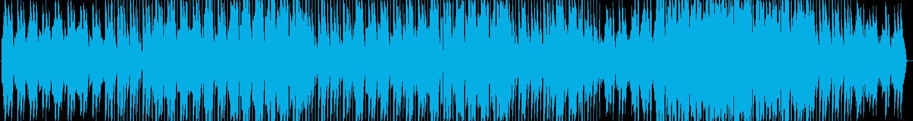 女性の柔らかい声のバラードの再生済みの波形