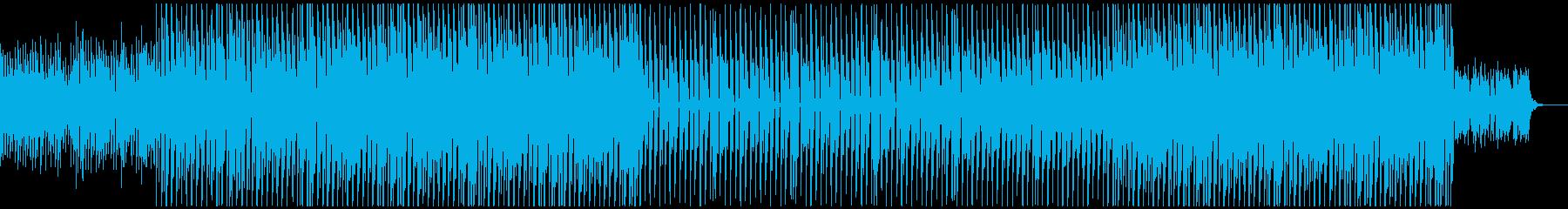 選手入場の勇ましいロックギター曲の再生済みの波形