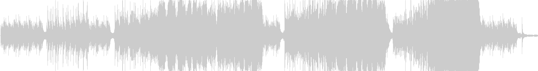 ピアノとストリングス主体のバラードの未再生の波形