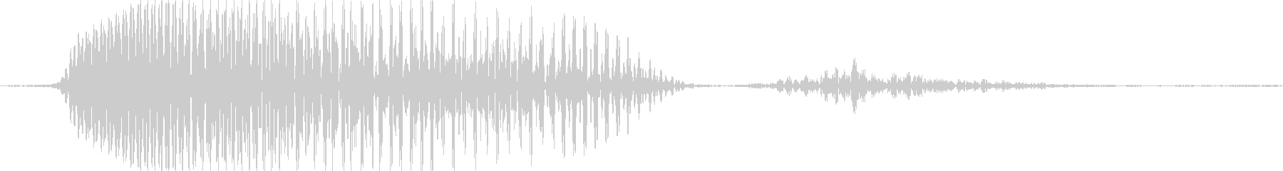 きゃっの未再生の波形
