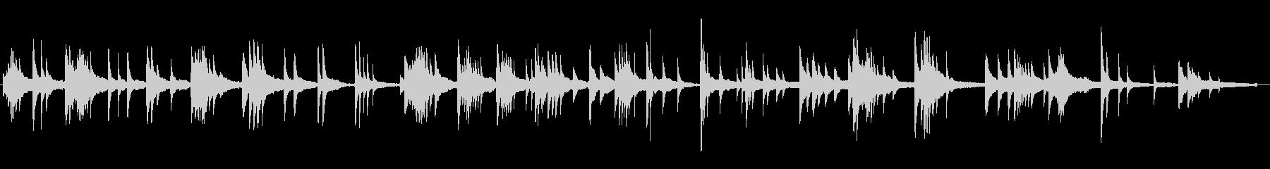 印象派的なピアノ曲の未再生の波形