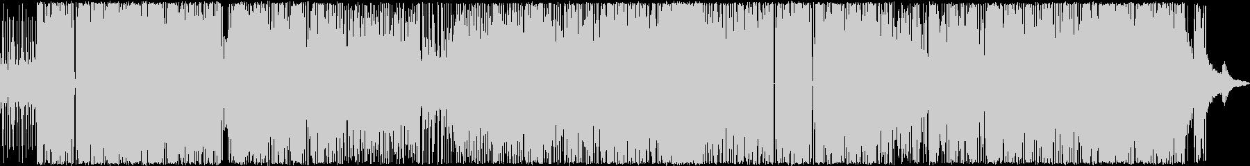 フリーキーなSAXと重たいビートの未再生の波形