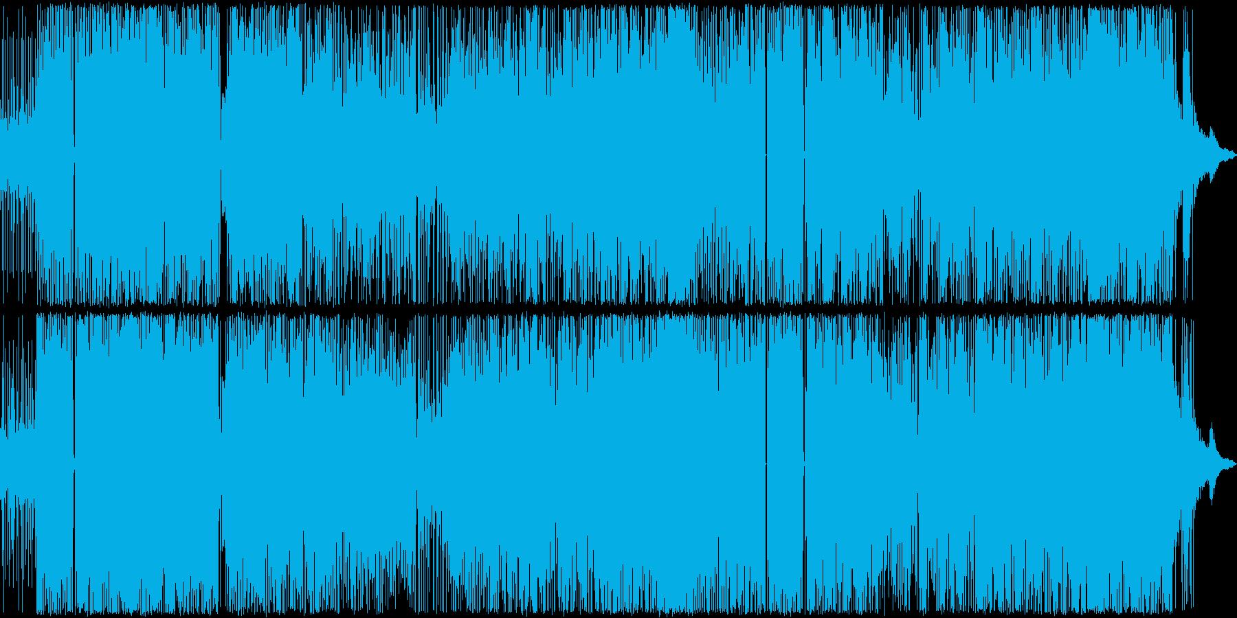 フリーキーなSAXと重たいビートの再生済みの波形