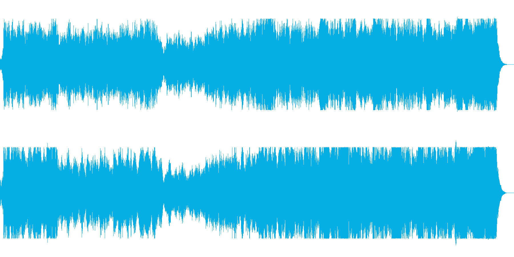 壮大なエンディングのオーケストラの再生済みの波形