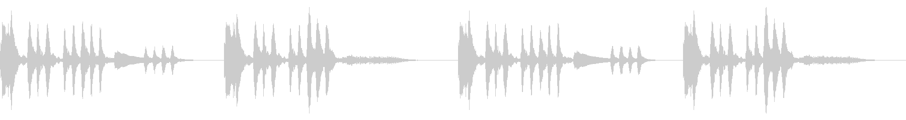 怪しい場面に適したストリングス曲の未再生の波形