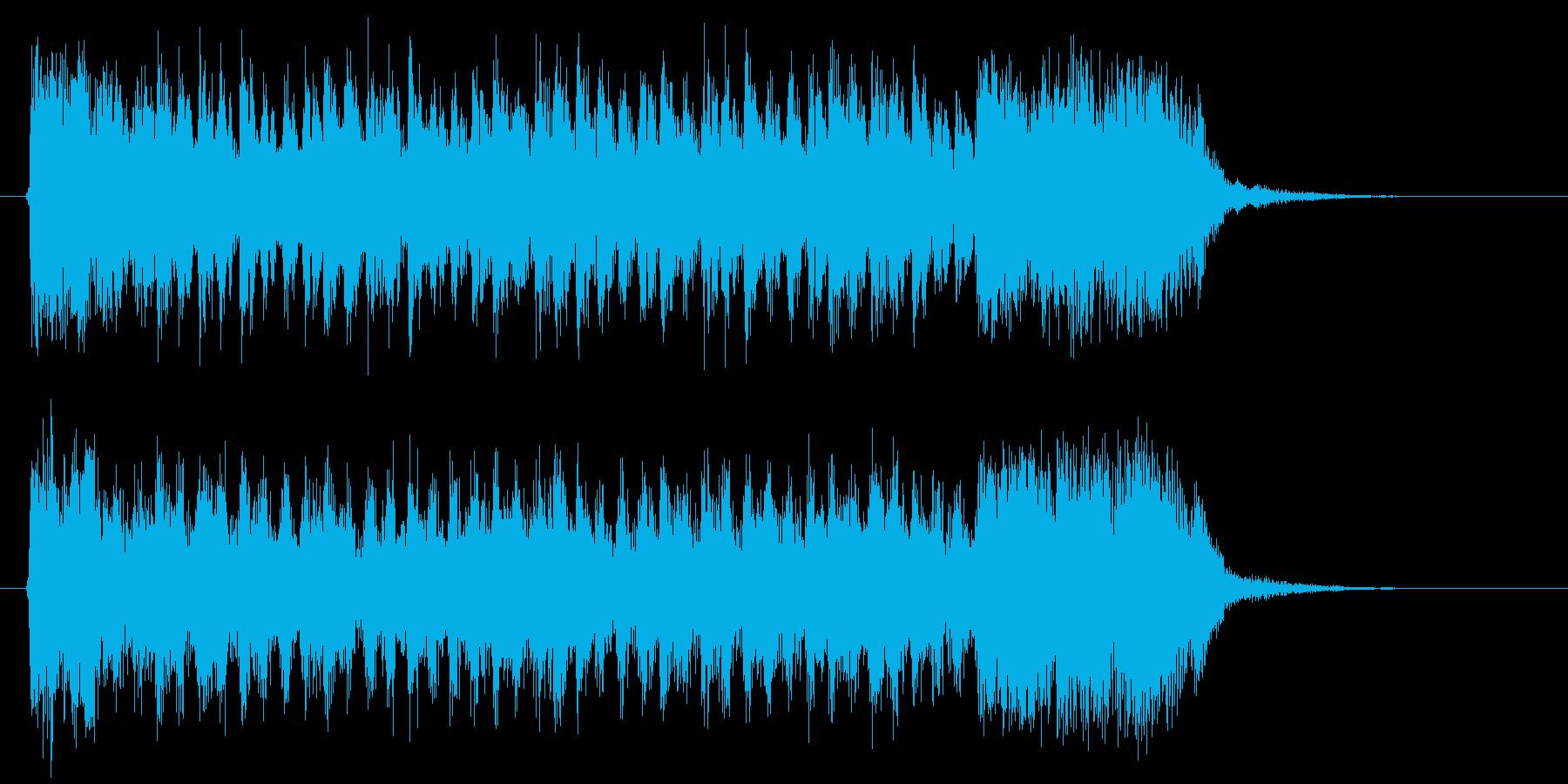 ダークで緩やかなシンセジングルの再生済みの波形