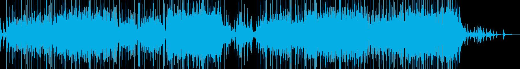 冬の暖かな青空をイメージした癒しポップスの再生済みの波形