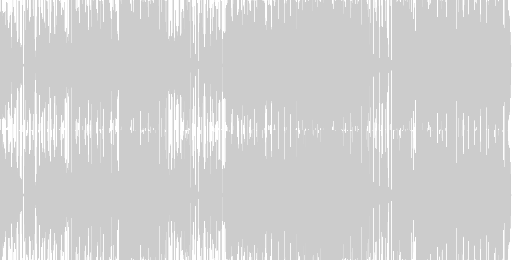 オシャレで切ない恋愛ソング(LO-FI)の未再生の波形