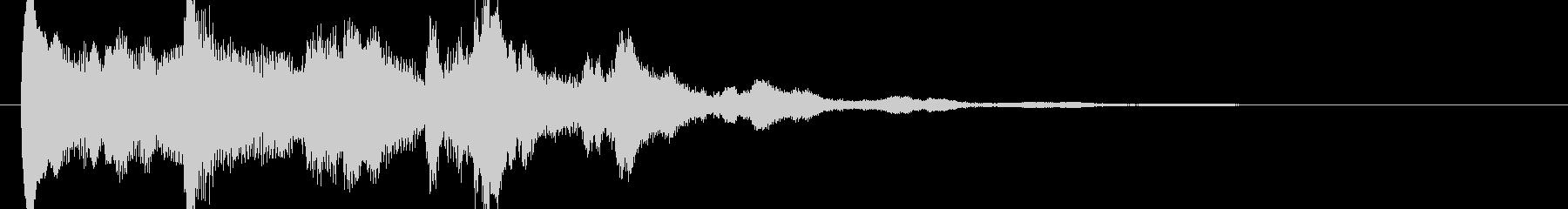 清らかな音色のサウンドロゴの未再生の波形
