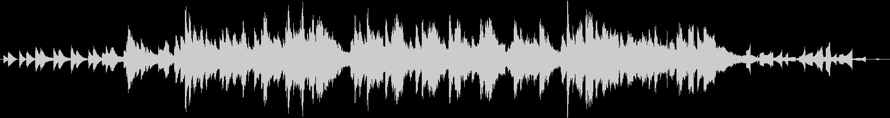 穏やかなアンビエント曲の未再生の波形
