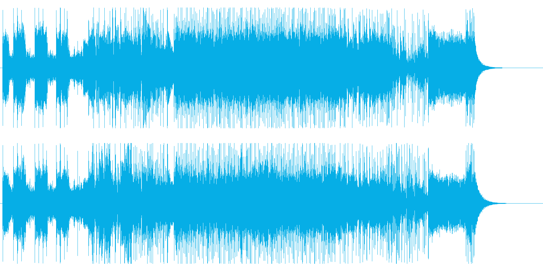 緊迫感溢れる高速ヘヴィメタルの再生済みの波形